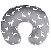 Nursing Pillow Slipcover | Breastfeeding Pillow Cover Cuddle Minky Fabric | Made in USA (BOP.9)