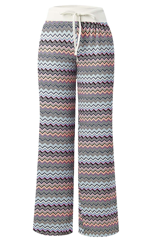 TALLA XL. Loveternal Mujeres Harem Pantalones Impresión Boho Yoga Cintura de Cordón Pantalón S-XL