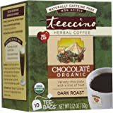 Teeccino Caffeine Free Herbal Coffee Dark Roast -Chocolate - 10 ct