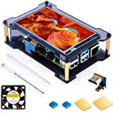 Miuzei Raspberry Pi 4 Touchscreen with Case & Fan, 4 inch IPS Touch Screen LCD Display, 800x480 HDMI Monitor for RPI 4b 8gb /