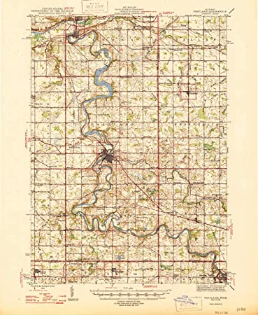 Amazon Com Yellowmaps Portland Mi Topo Map 1 62500 Scale