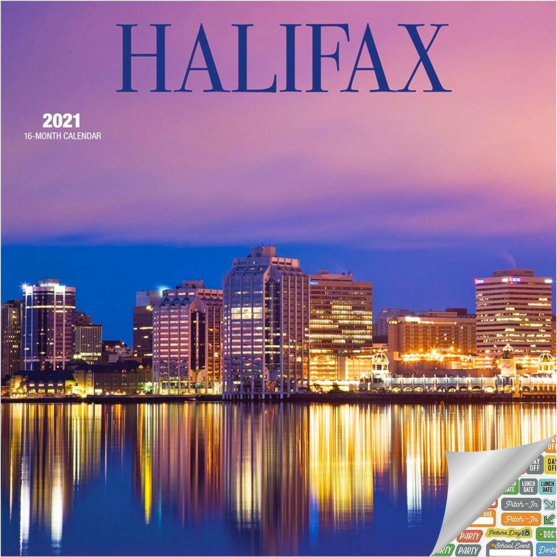 Halifax Calendar 2021 Bundle - Deluxe 2021 Nova Scotia Wall Calendar with Over 100 Calendar Stickers (Canada Gifts, Office Supplies)