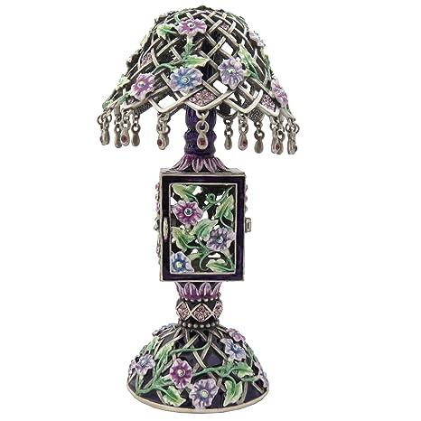 Amazon.com: Berenjena púrpura floral lámpara Abalorios ...