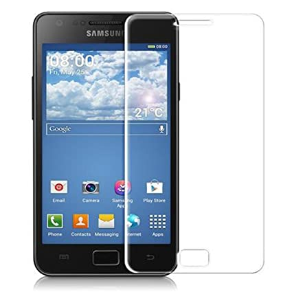 ACENIX® 100% genuino cristal templado Protector de pantalla para Samsung Galaxy S2 S II