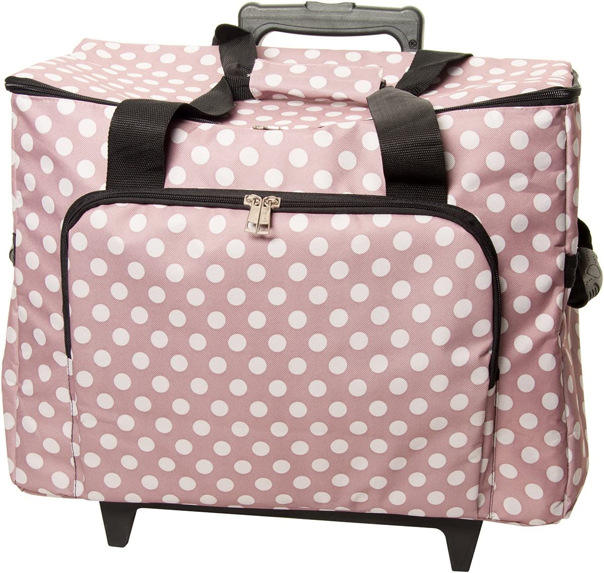 ~ Black ~ Hobbygift Premium Sewing Machine Bag and Additional Bag Sewing Machine Trolley with Two Detachable Bags