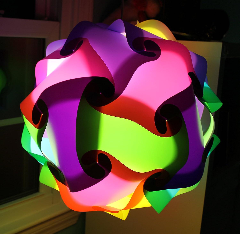 """Pink Infinity Lights Puzzle Lamp LuvaLamp Jigsaw IQ Light 30 pcs 10/"""" SMALL USA"""
