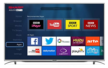 sharp 49 inch 4k ultra hd smart tv with freeview hd silver amazon