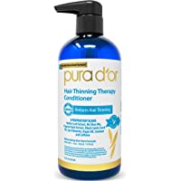 PURA D'OR Hair Thinning Therapy Conditioner for Added Moisture, Infused with Argan Oil, Biotin & Natural Ingredients, Sulfate Free, for All Hair Types, Men & Women, 473 ml (Packaging may vary)