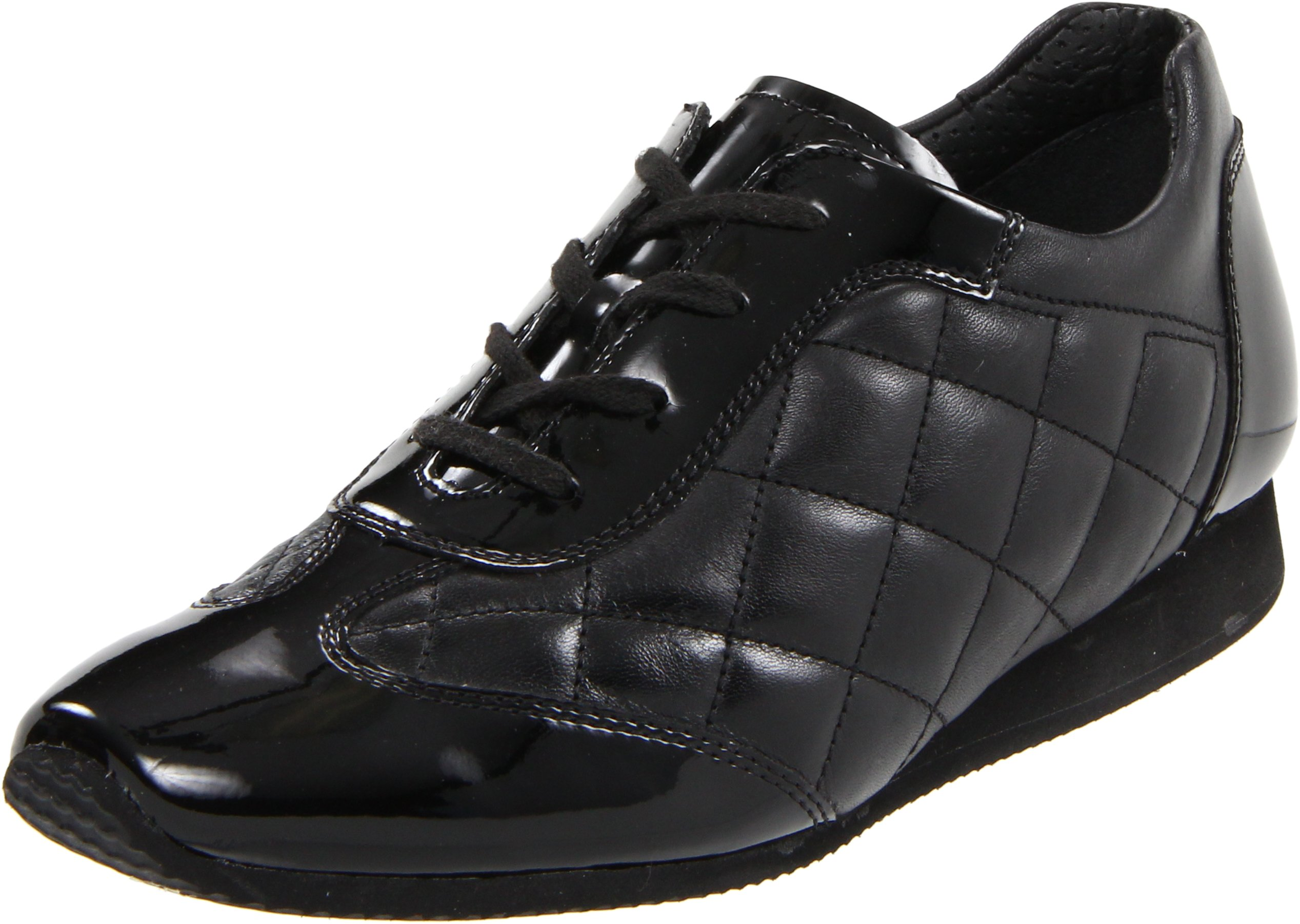 ara Women's Ilana Oxford,Black Quilted Leather,8.5 M US