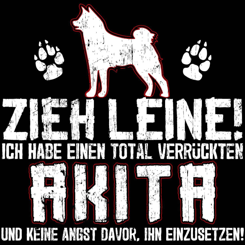 Fashionalarm Herren T-Shirt - Zieh Leine - verrückter Akita   Fun Shirt mit  lustigem Spruch Geschenk Idee Herrchen Hunde Besitzer Rasse Hund Inu:  Amazon.de: ...