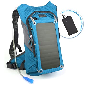 Amazon.com : Ivation 7W Solar charging 1.8L Hydration Backpack ...