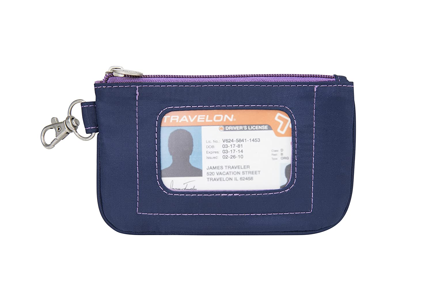 Purse with outside attached wallet