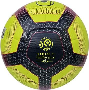 uhlsport Elysia Ballon OFFICIEL Balones de fútbol de competición, Juventud Unisex, Fluo Yellow/Navy/Fucsia, 5: Amazon.es: Deportes y aire libre