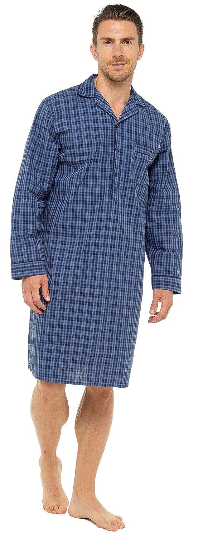 Camicia da Notte da Uomo 100/% Cotone Leggero Popeline HisAndHers-Clothing
