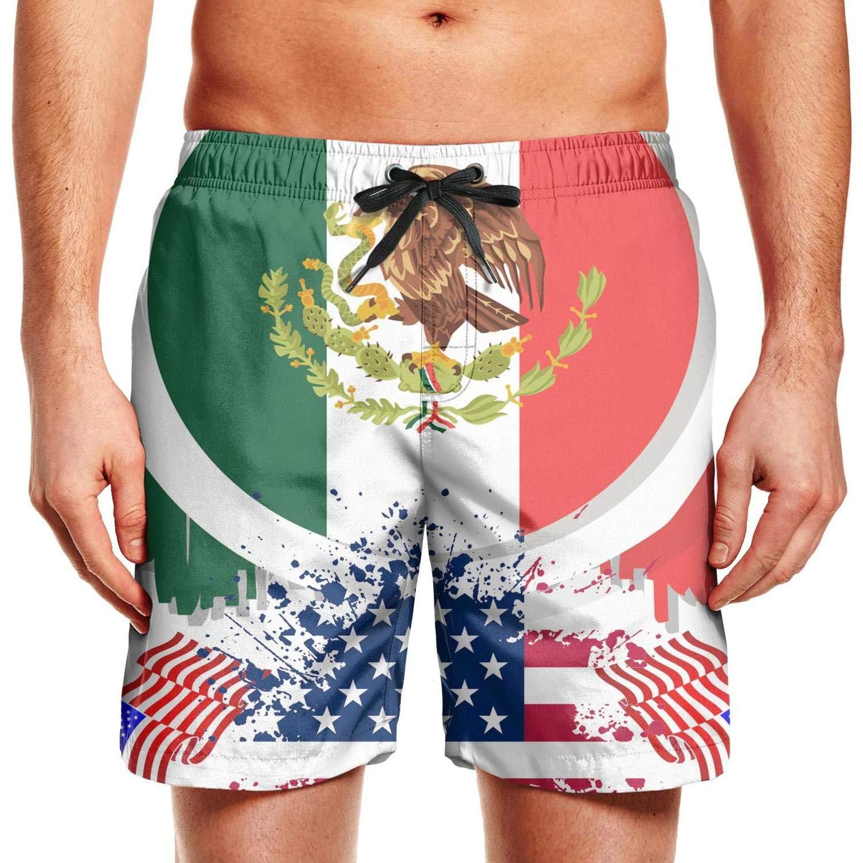 Englen Mens Swim Trunks Summer Cool Quick Dry Board Shorts Us Flag Bitcoin Bathing Suit