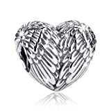 Amazon Price History for:BAMOER 925 Sterling Silver Feathers Angel Wing Heart Shape Charm Bead Fit Bracelet Necklace