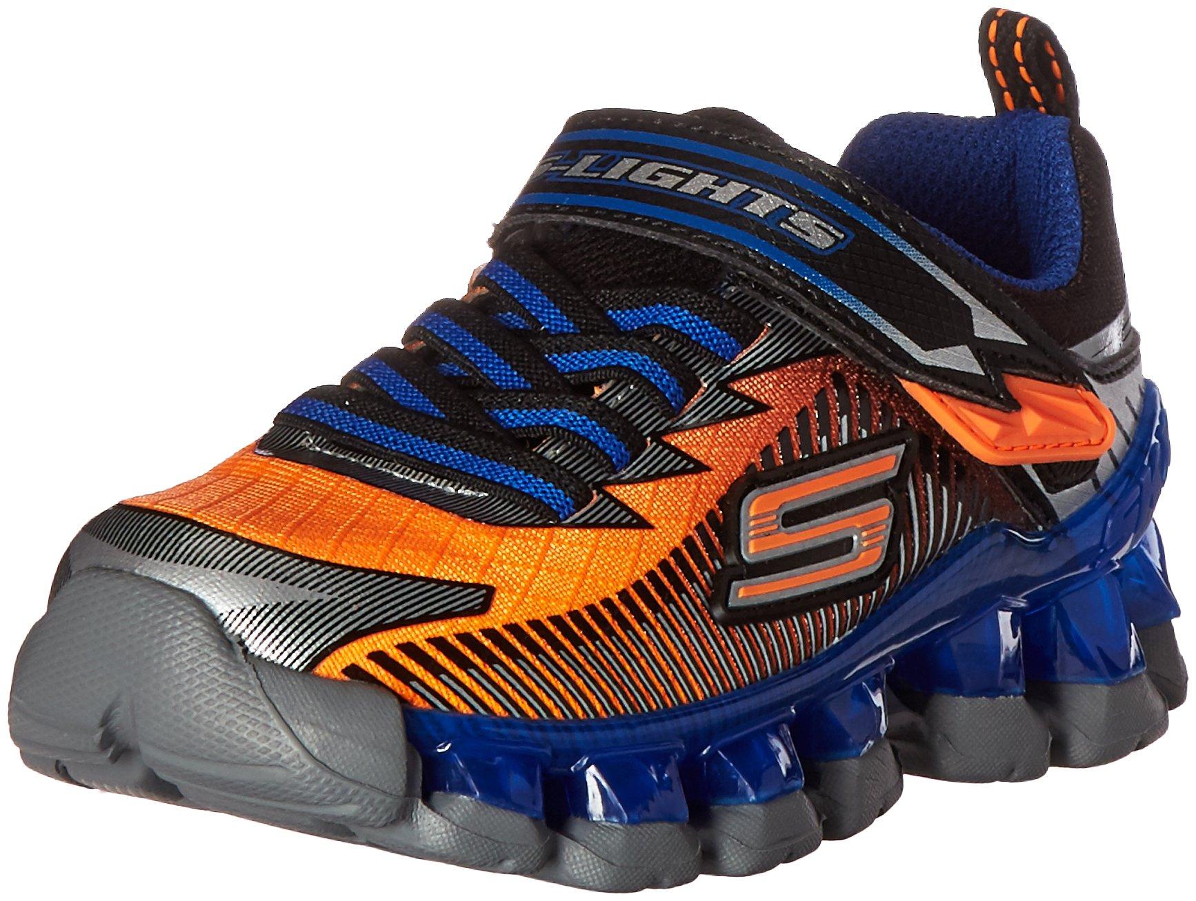 Skechers Kids Boys' Flashpod-Scoria Loafer,Orange/Blue,3 M US Little Kid