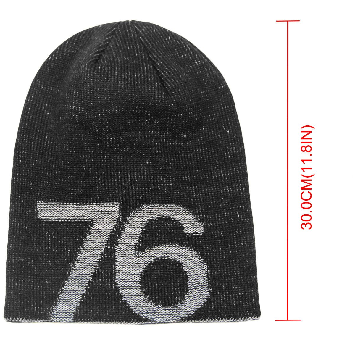 f9d3f75cd4065 Amazon.com  LETHMIK 76 Winter Slouchy Beanie Hat Unisex Acrylic Knit Long  Skull Cap Black  Sports   Outdoors