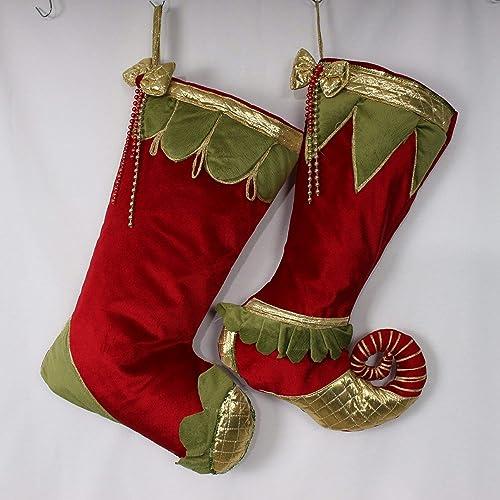 Velvet Christmas Stockings Jester Stockings Luxury Christmas