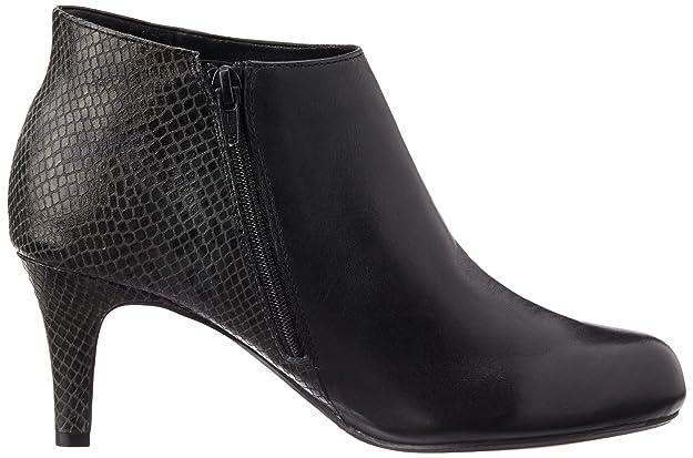 Clarks Arista Flirt, Chaussures à Talons - Avant du Pieds Couvert Femmes - Noir - Schwarz (Black Combi), 39.5 EU