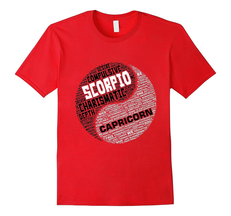 Zodiac Shirt for Men and Women Scorpio and Capricorn T-shirt-TH