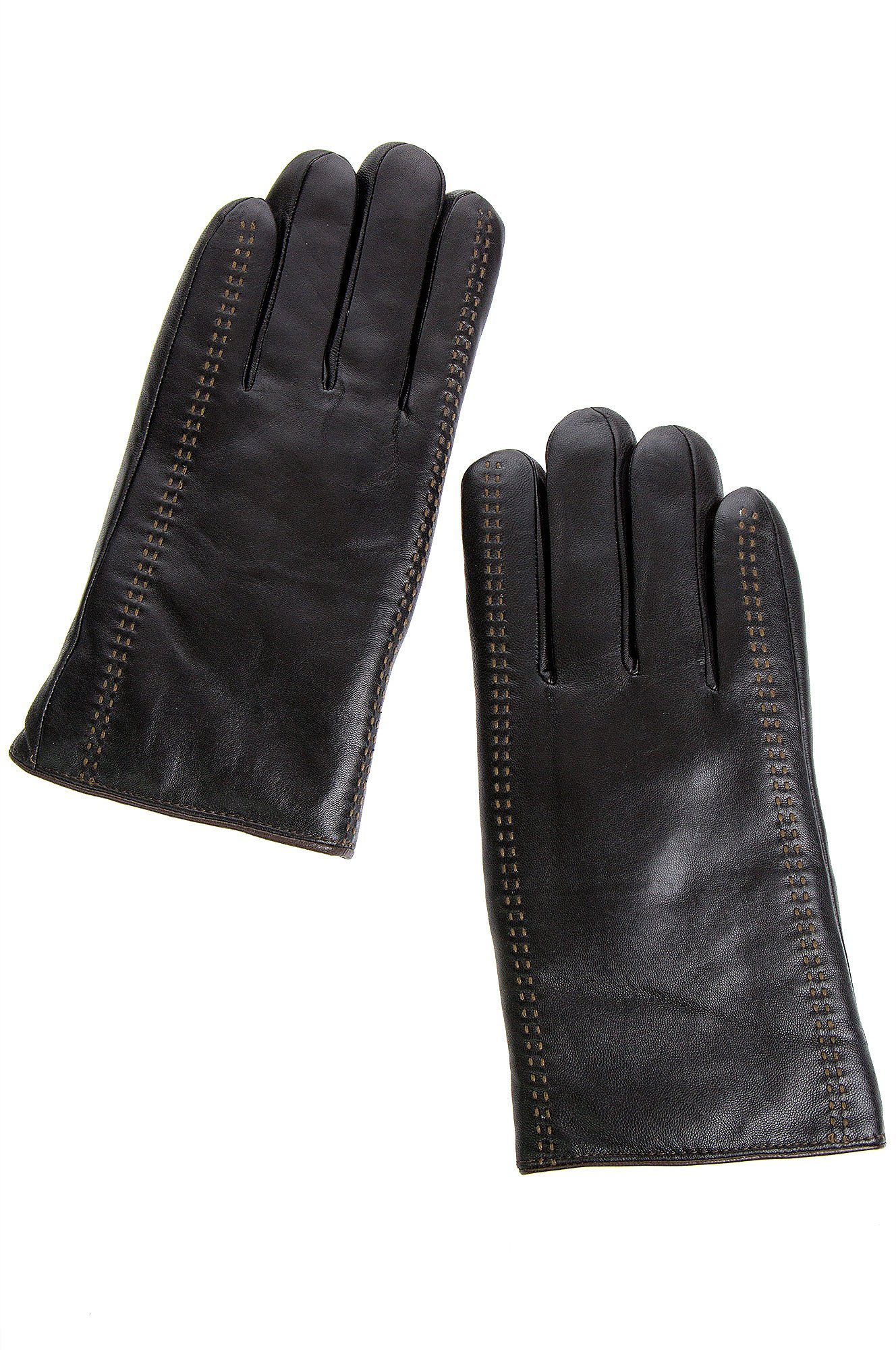 Men's Premium Lambskin Leather Gloves with Shearling Lining by Overland Sheepskin Co (Image #1)