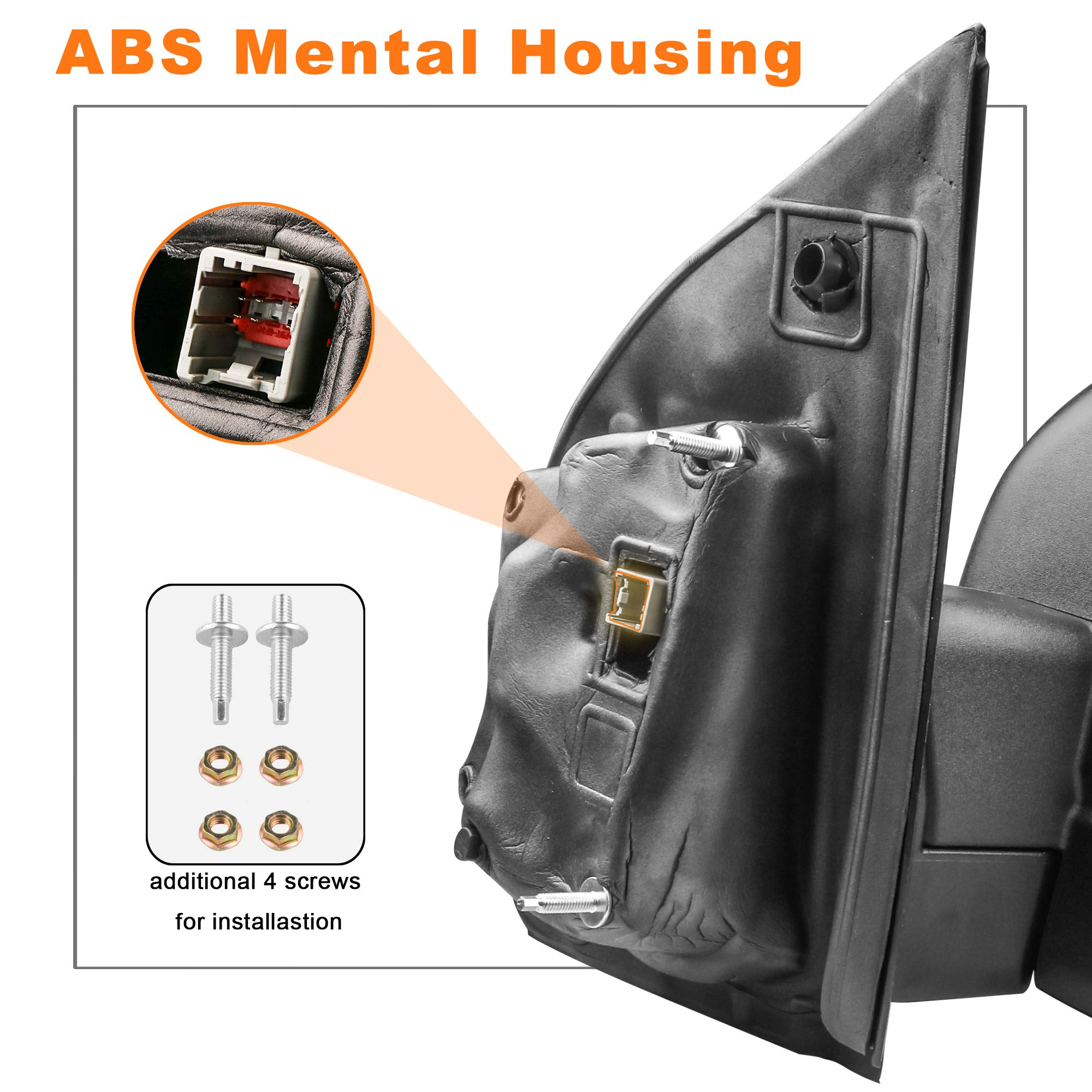 MOSTPLUS New 8 PIN Power Heated Towing Mirrors for Ford F150 2015 2016 2017 w/Turn Signal (Left+Right Side Mirror) by MOSTPLUS (Image #5)