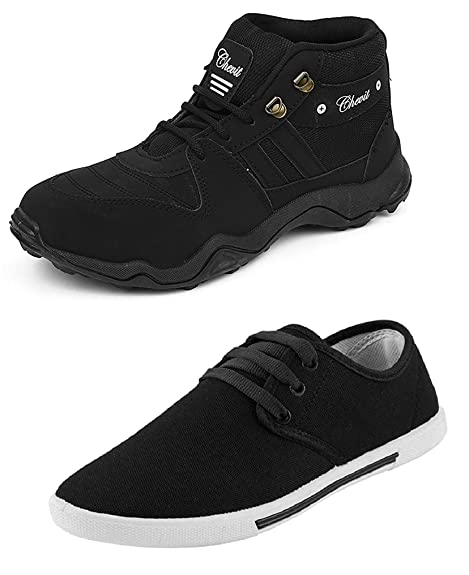 5d5b3f31ce Chevit Men s Combo Pack of 2 Casual   Sports Shoes (Sneakers   Running Shoes )