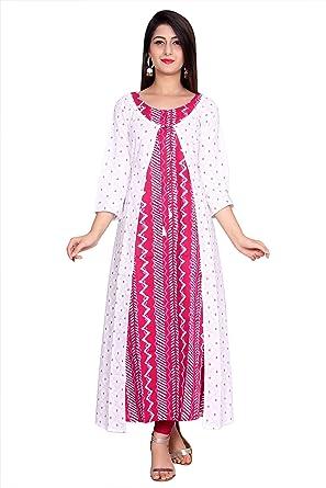 109876fc62d Metro Fashion Printed Top Tunic Stylish Long Kurti With Shrug Dress. (XL)
