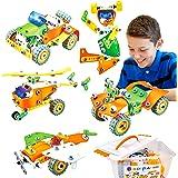 HOMCENT Building Toys - STEM Toys Educational Toys for Kids 5-7 8-12 Kids Gifts for Boys Girls, 165 PCS DIY Building Blocks S