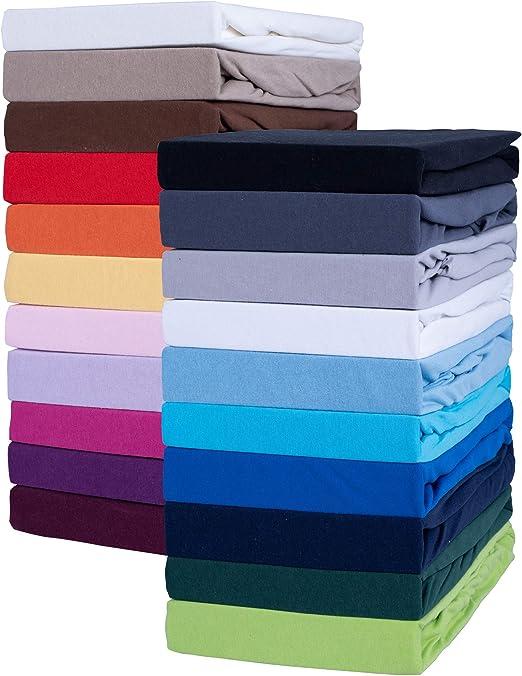 Sábana bajera ajustable, sábana bajera clásica en muchos colores ...