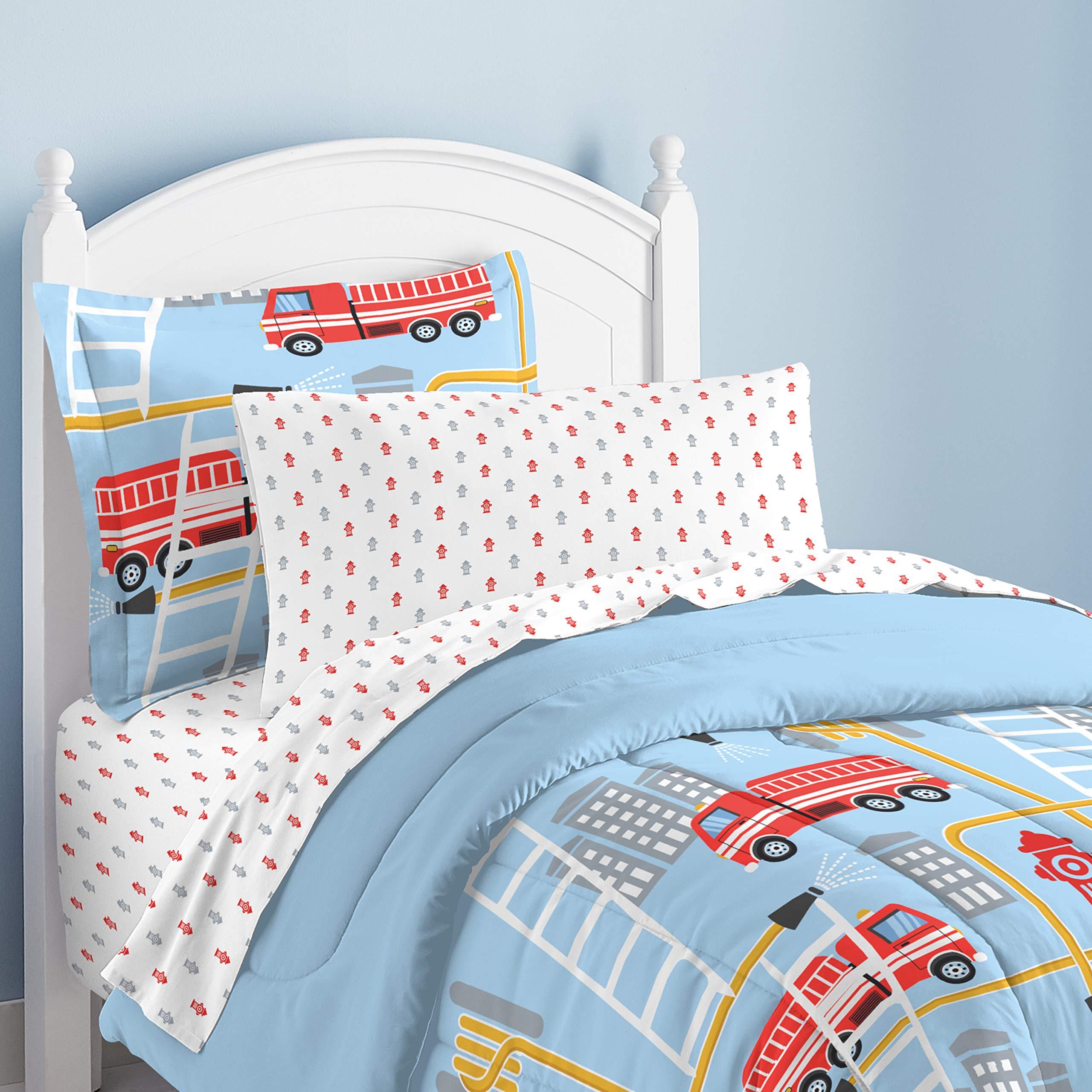 Taxi Firetruck Ambulance Pillowcases Boys Birthday Gift Blue Pillowcases Bedding Police Emergency Vehicles