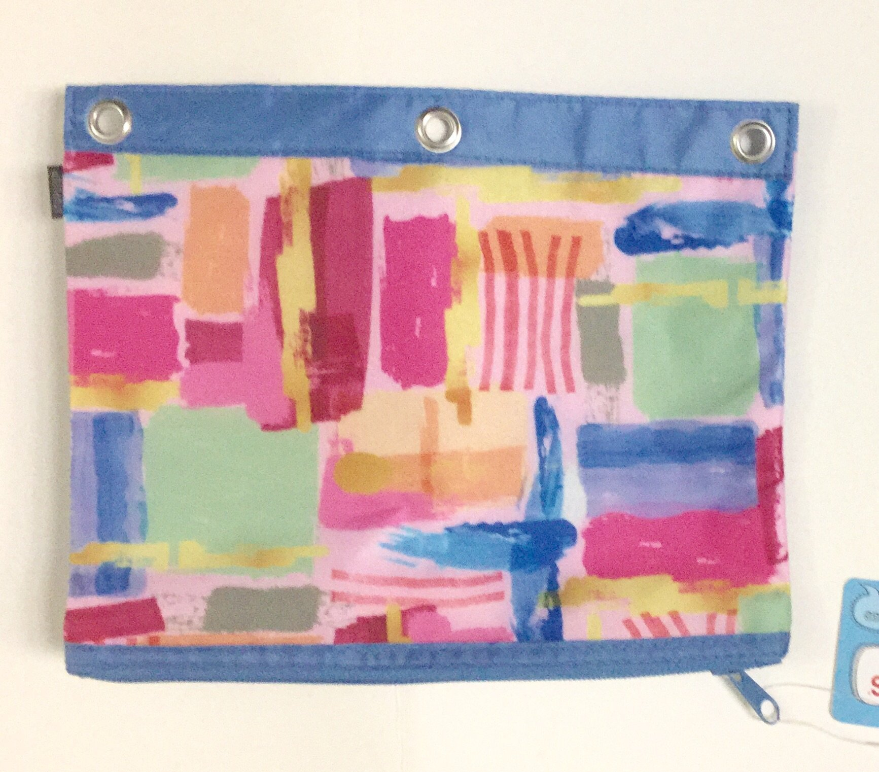 Staples 3 Ring Binder Pencil or Pen Pouch 9.5'' x 7.5'', Water Color