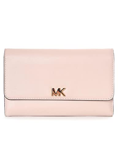 2cefabfdc6c67e Amazon.com: Michael Kors Mott Leather Charm Medium Carryall Money Piece  Wallet in Soft Pink: Shoes