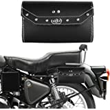 Autofy Universal Single Lock Saddle Bag for All Bikes (Black, Silver)