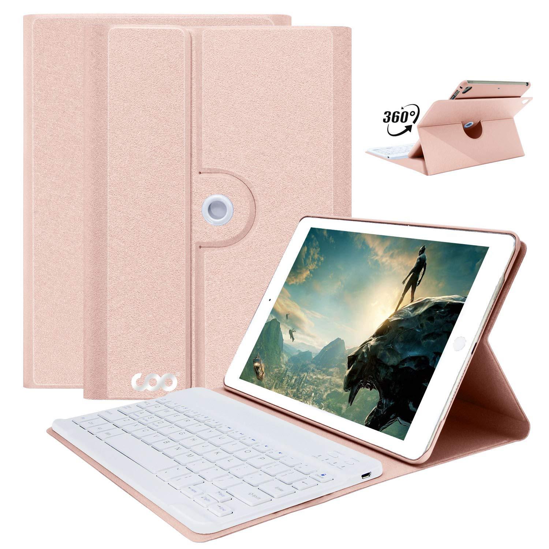iPad Keyboard Case for iPad 2018 (6th Gen,9.7''),iPad 2017,iPad Pro 9.7,iPad Air 360 Rotatable Wireless Bluetooth Keyboard Tablet Slim Cover Smart Auto Sleep Wake