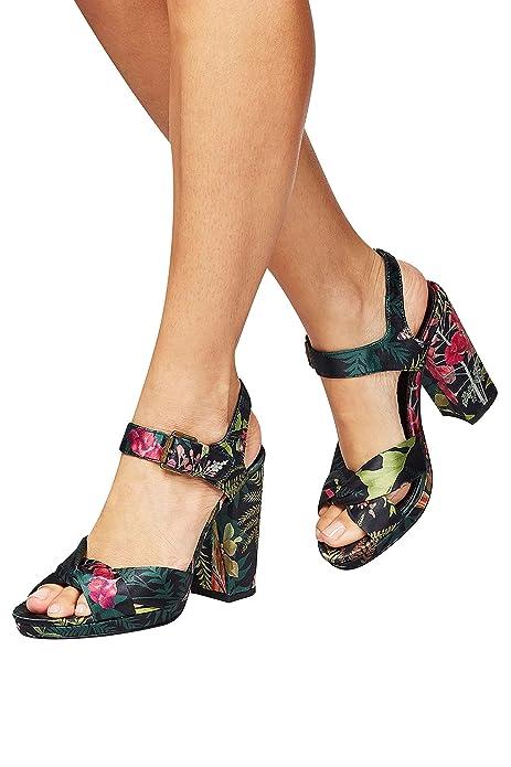 9425563f55 next Mujer Sandalias De Plataforma De Tacón Ancho Alto Estampados   Amazon.es  Zapatos y complementos