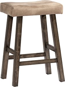 Hillsdale Furniture 4621-830 Saddle Backless, Rustic Gray Bar Stool,