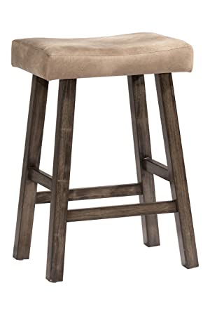 Hillsdale Furniture 4621-830 Saddle Backless, Rustic Gray Bar Stool