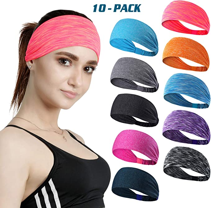 Sport Athletic Headband for Running Yoga Travel Fitness Elastic Wicking Non Slip
