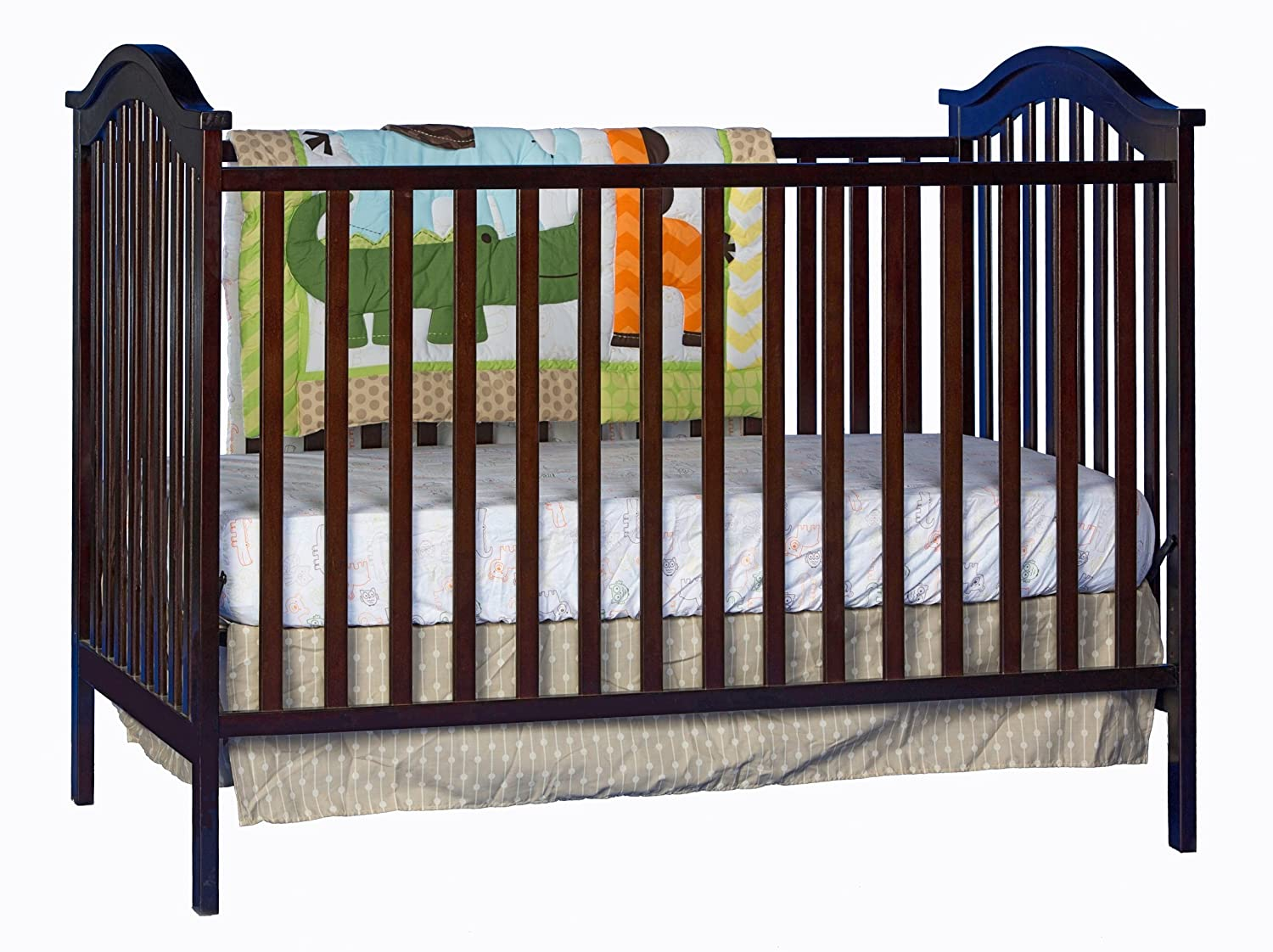 simmons easy side crib. amazon.com : stork craft hampton fixed side convertible crib, white baby simmons easy crib