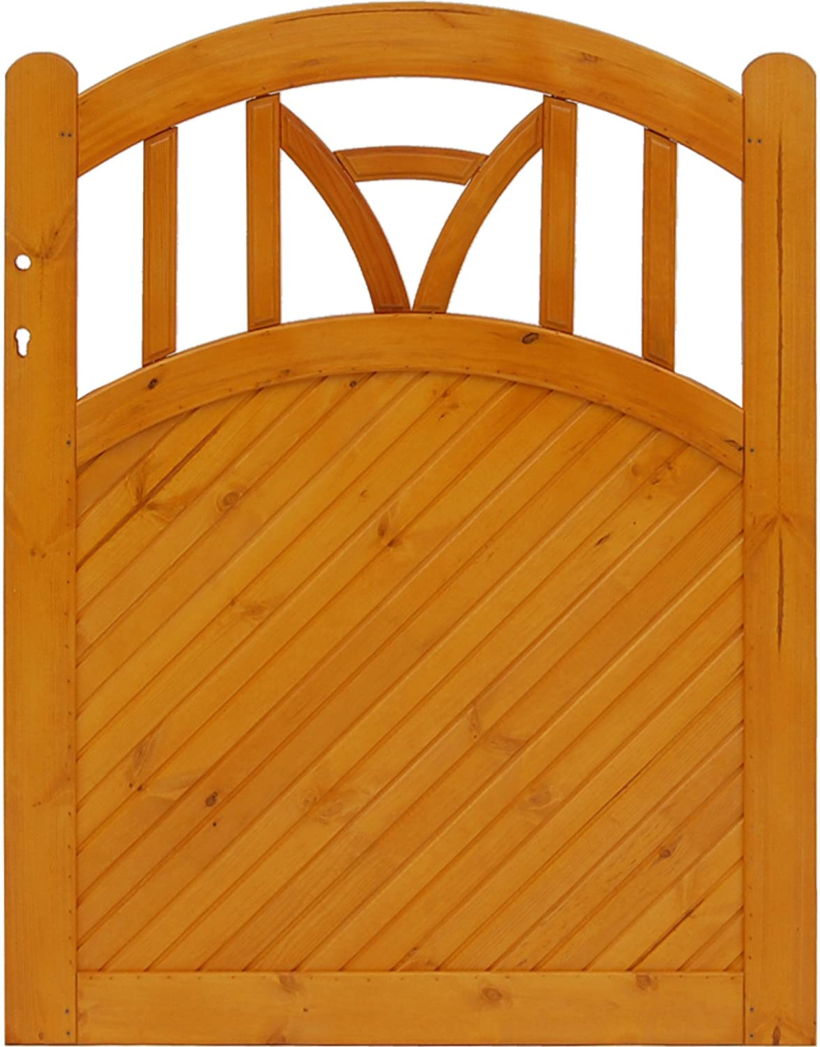 Andrewex wooden wicket, fencing panel, garden wicket 120 x 100, varnished, pinie