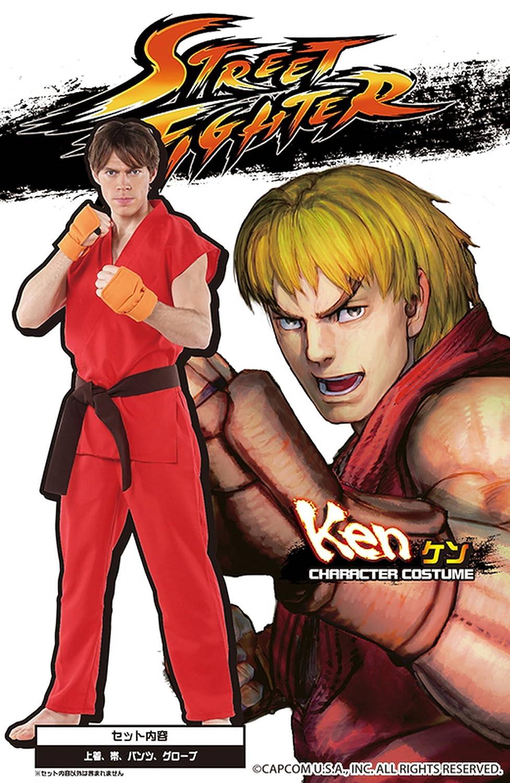 Street Fighter traje oficial de Ken de los hombres del traje ~ 180cm