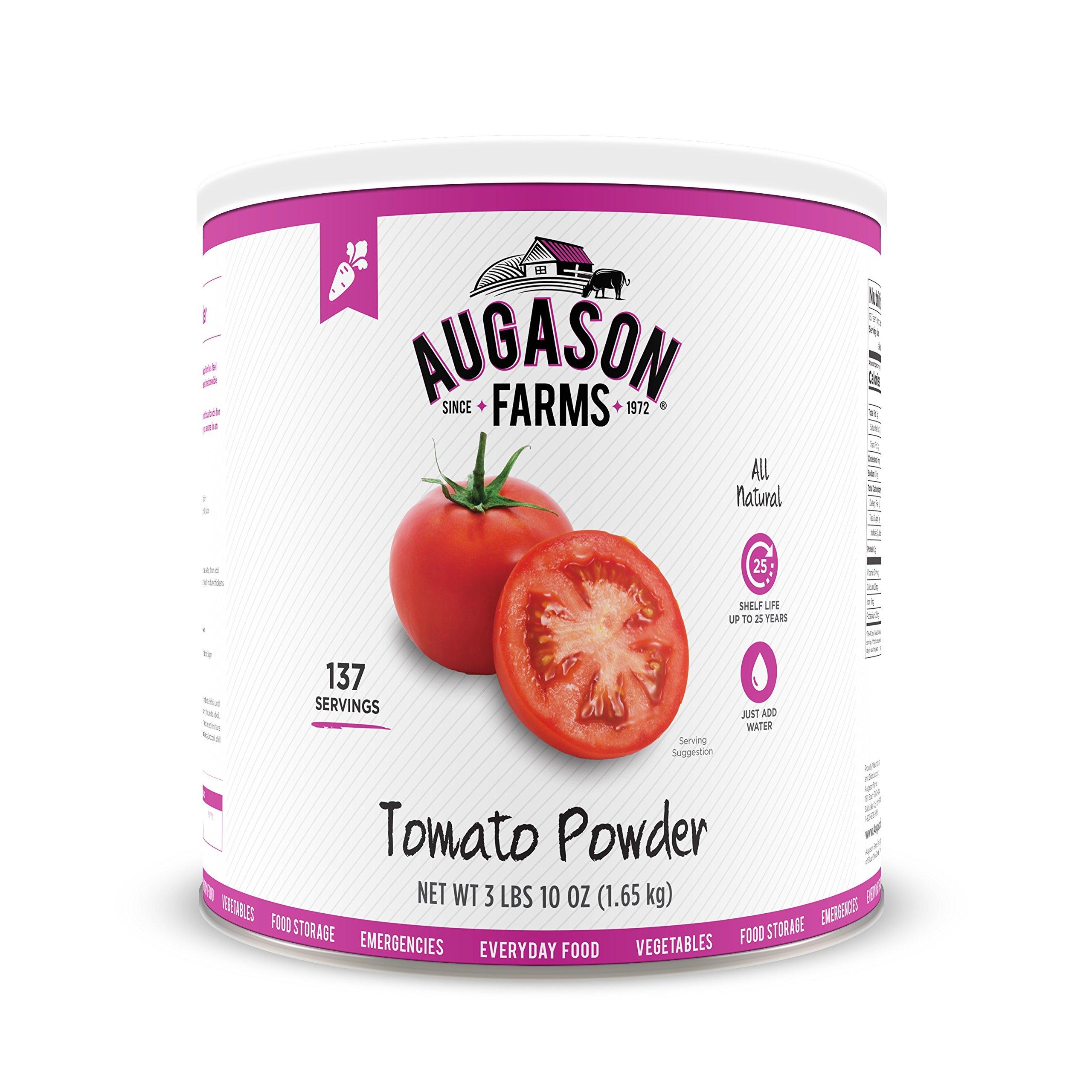 Augason Farms Tomato Powder Emergency Food Storage 3 lbs 10 oz No. 10 Can