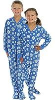 SleepytimePjs Kid's Fleece Onesie PJs Footed Pajama