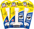 Bullibone Brusher: Dog Teeth Cleaning Brushing Toothbrush Stick - Long Lasting Nylon Peppermint Dog Dental Chew Toy for Oral Care and Dental Health, for Large and Medium Dogs