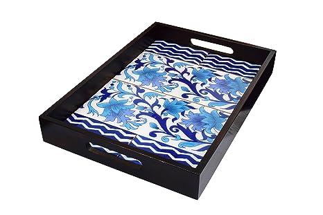 Vassoio con manico in legno artigianali base decorazione vassoio da