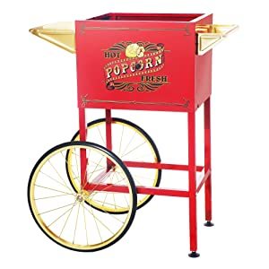 6403 Red Replacement Cart for Larger Princeton Style Great Northern Popcorn Machines