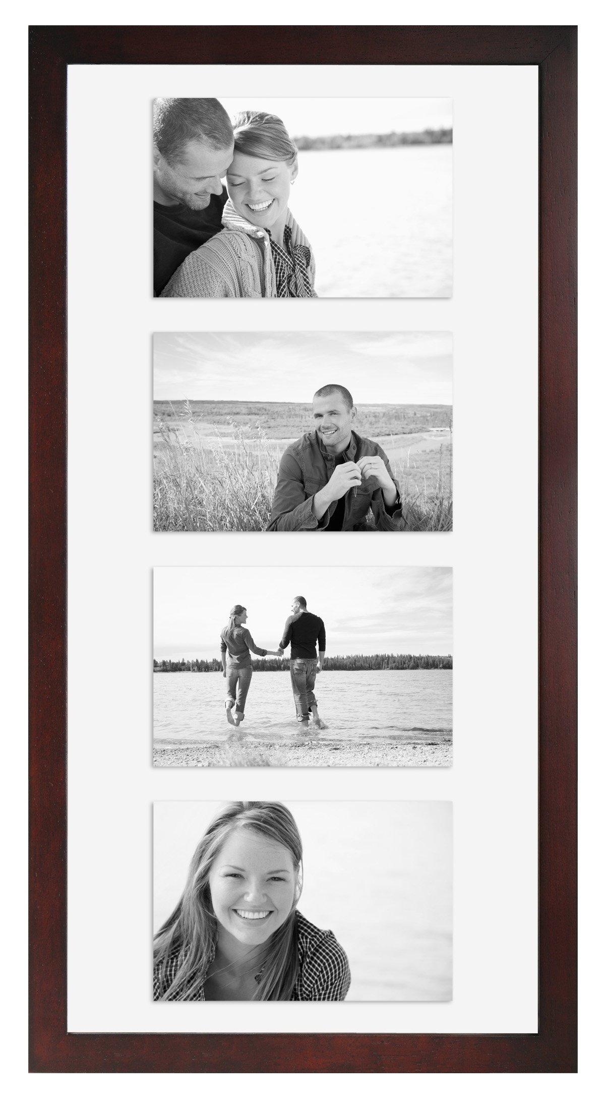MCS 10x20 Inch Wood Float Frame, Walnut (25663)