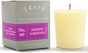 Trapp Signature Home Collection No. 60 Jasmine Gardenia Votive Scented Candle 2 Ounce, Pack of 4